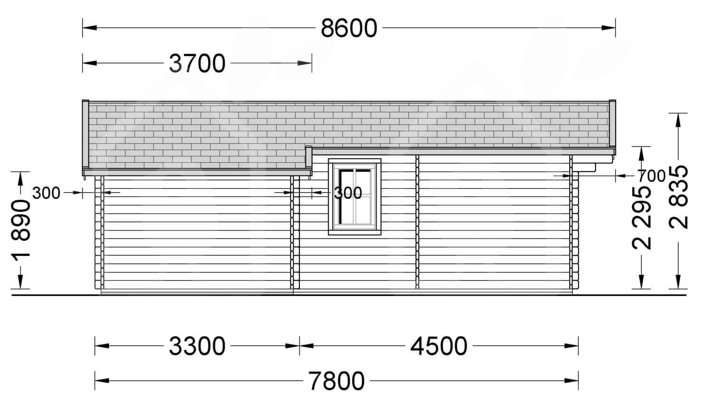 La casa Málaga 4458 mm, 43 m²