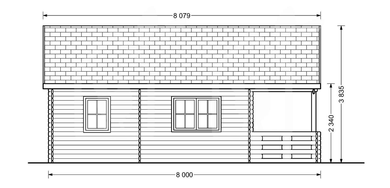 La casa San Sebastián 44 mm, 36 m²