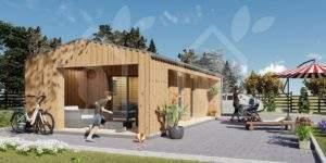 La casa Valladolid Scandinavia 4458 mm + revestimiento 20 mm, 37 m²