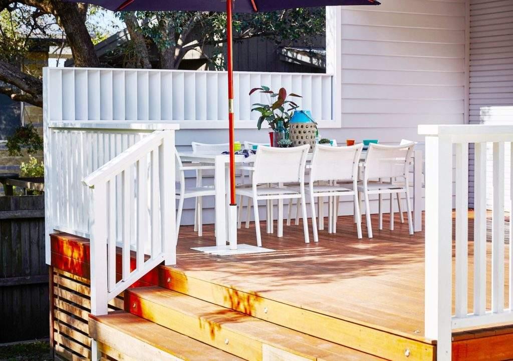Construye una terraza para tu casa de madera